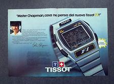 H731- Advertising Pubblicità -1980- TISSOT F.1 , MISTER CHAPMAN COSA NE PENSA?