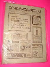 CORRIERE DEI PICCOLI anno 1910 n. 48 con sovracopertina pubblicitaria