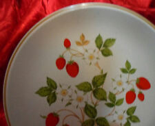 Vintage Collectible Strawberries N Cream Stoneware Plate Collection Sheffield
