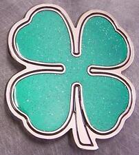 Pewter Belt Buckle Irish Shamrock 4 Four Leaf Clover NEW