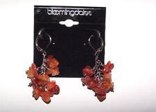 Bloomingdales Dangle Earrings Genuine Carnelian Clusters New
