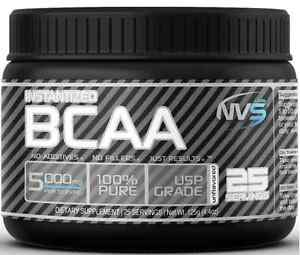 New NVS Labs Instantized Pure BCAA Powder 25 Servings Unflavored 125g