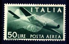 "ITALIA REP. - PA - 1945-1946 - Serie ""Democratica"" - Filigr. RUOTA - 50 L. verde"