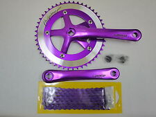 Lasco Crankset + chain for Fixed Gear Bike Crank Set Fixie bicycle Single Speed