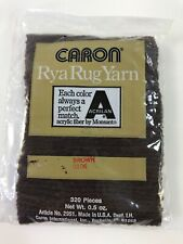 Lot of 8 Packages Caron Rya Rug Yarn Brown 0106 Latch Hook Yarn