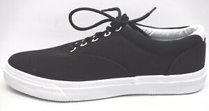 Sperry Top Sider Size 8.5 Black Canvas Sneakers New Mens Shoes