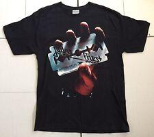 2-sided Judas Priest Reprint British Steel Concert T-Shirt w/ Tour Dates Exc!