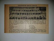 Jeannette & Joseph Johns Jr. Pennsylvania High School 1928 Football Team Picture