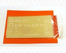 CDS O Dry Transfer Decals Great Northern Waffle Side Boxcar White O-683