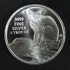 2017 Silver Round Coin With Bobcat Texas Precious Metals 1 Troy Oz .9999 Silver