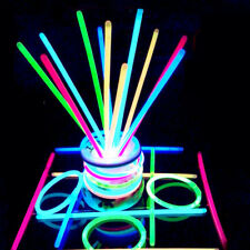 100 Premium Glow Sticks Bracelets Neon Colors Party Favors Mixed Stick Color