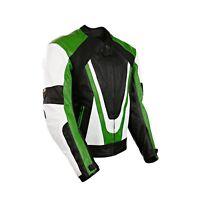 Noir pour Hommes Ce Renforcé Cuir Moto / Moto Racing Veste Style Motard