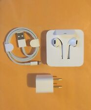 Genuine Apple Lightning EarPods iPhone 8 & 8+ Earbuds Headphones + Adapter (OEM)