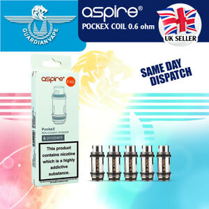 ASPIRE POCKEX ATOMIZER VAPE COIL 0.6 OHM – PACK OF 5