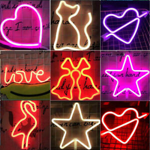Led Neon Light for Bedroom Home Party Wedding Xmas Decor Neon Lamp USB Battery