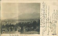1907  Baker City Oregon Scenic Valley View RPPC real photo postcard 9030