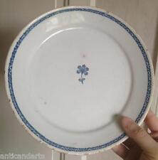 Belle assiette faience XVIIIeme liseret bleue fleurs bleu Nord ?