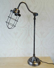 Caged Light Industrial Vintage Style Tall Table Lamp Desk