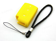 Yellow Silicone Case Cover For Toyota Prius Crown Avensis Verso Smart Key A209YE