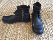 "Men's Timberland Earthkeepers 6"" Black Leather City Side Zip Boots US  9"