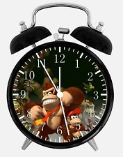 "Donkey Kong Alarm Desk Clock 3.75"" Home or Office Decor W88 Nice For Gifts"
