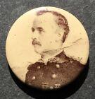 Vintage Spanish American War ? Portrait of an Officer, pinback button