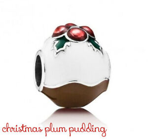 PANDORA Charm Sterling Silver ALE S925 CHRISTMAS PLUM PUDDING 791412ENMX
