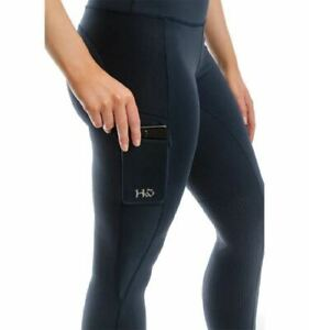 Horseware Ladies Riding Tights Silicon - Navy