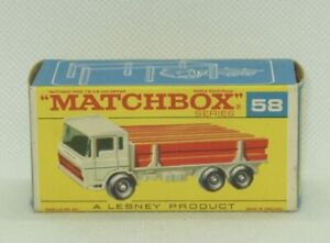 Moko Matchbox Lesney #58 DAF Girder Truck Original Box Only