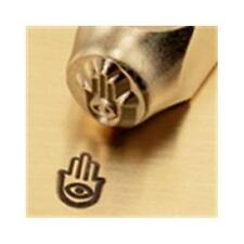 """Hand of Miriam Sign""1/4""-6mm-Large Stamp-Punch-Steel-Gold&Silver Bars(B63"