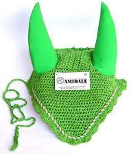 Ear Net Flyveil Crochet Green Colors Full Cob & Pony Size