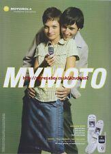 """Motorola V220 """"Mymoto"""" Mobile Phone 2004 Magazine Advert #138"""
