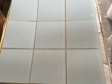 4x4 Glass Tile Mosaic Kitchen Bath Wall: grey white