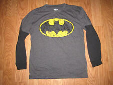ADULT BATMAN LOGO 2FER SHIRT SUPERHERO DC COMICS BOOK TEE LARGE L
