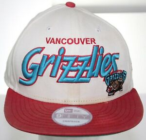 Vtg Vancouver Grizzlies New Era 9Fifty NBA Basketball Hat Snapback Cap White/Red