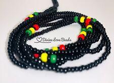 "📿Rasta Waist Beads  45"" Inch Tie-On Waist Bead Strand  African Waist Beads"