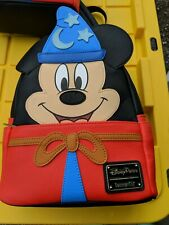 Disney Parks 2020 Sorcerer Mickey Fantasia Loungefly Mini Backpack In Hand