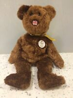 Ty Beanie Baby 'Champion' England Brown Bear 2002 Fifa World Cup