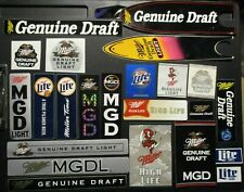 MILLER light genuine draft mgd 24 STICKER PACK LOT decal craft beer brewery