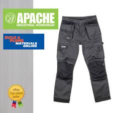 Apache ATS Grey/Black Work Trousers - Slim Fit 3D Flex Stretch Modern Design