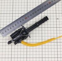"Free Shipping 4D 1/6 Scale Gatlin Machine Gun +Bullet Belt Weapon for 12"" Figure"