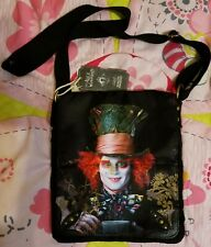 Disney Alice In Wonderland Mad Hatter Purse Crossbody Nwt must see!