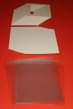 100 TEXTURED WHITE PICTURE MOUNTS, BACK & BAG 12 x 12 for 10 x 10