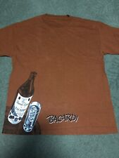 Bacardi Mens Brown T-Shirt Size Large