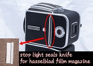 Stop light seals for Hasselblad  magazine, Dark Slide,  baffle Metal