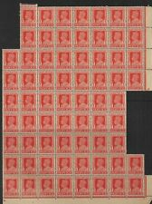 BRITISH INDIA 1939 KGVI 2ANNAS 'SERVICE' BLOCK OF 68 HIGH C.V £