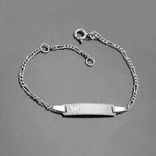 Baby Taufe Schmetterling Ident Figaro- Armband Gravur Name Datum Echt Silber 925