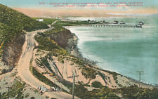 Ca * Point Loma San Diego Military Road to Ft. Rosecrans c1910 Wharf