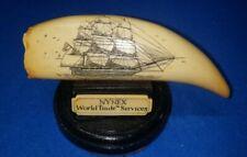 "New ListingScrimshaw Replica Artek Whale Tooth, 6 ½"" Long, Emerald Of Salem Tall Ship"