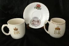 Queen Elizabeth II 1953, King George VI 1937 Coronation Cups,1980 C&D saucer Lot